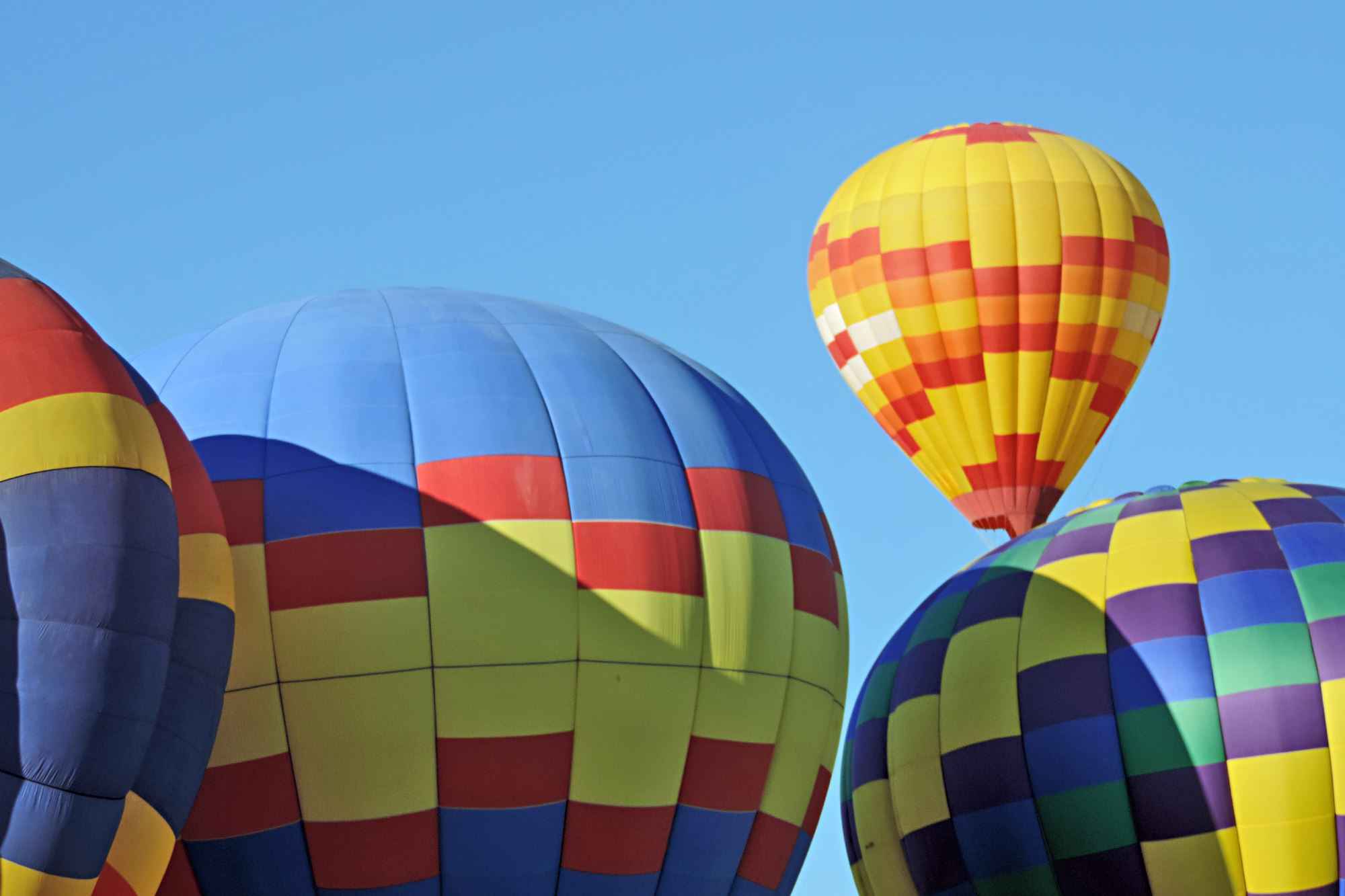 Four Colorful Hot Air Balloons