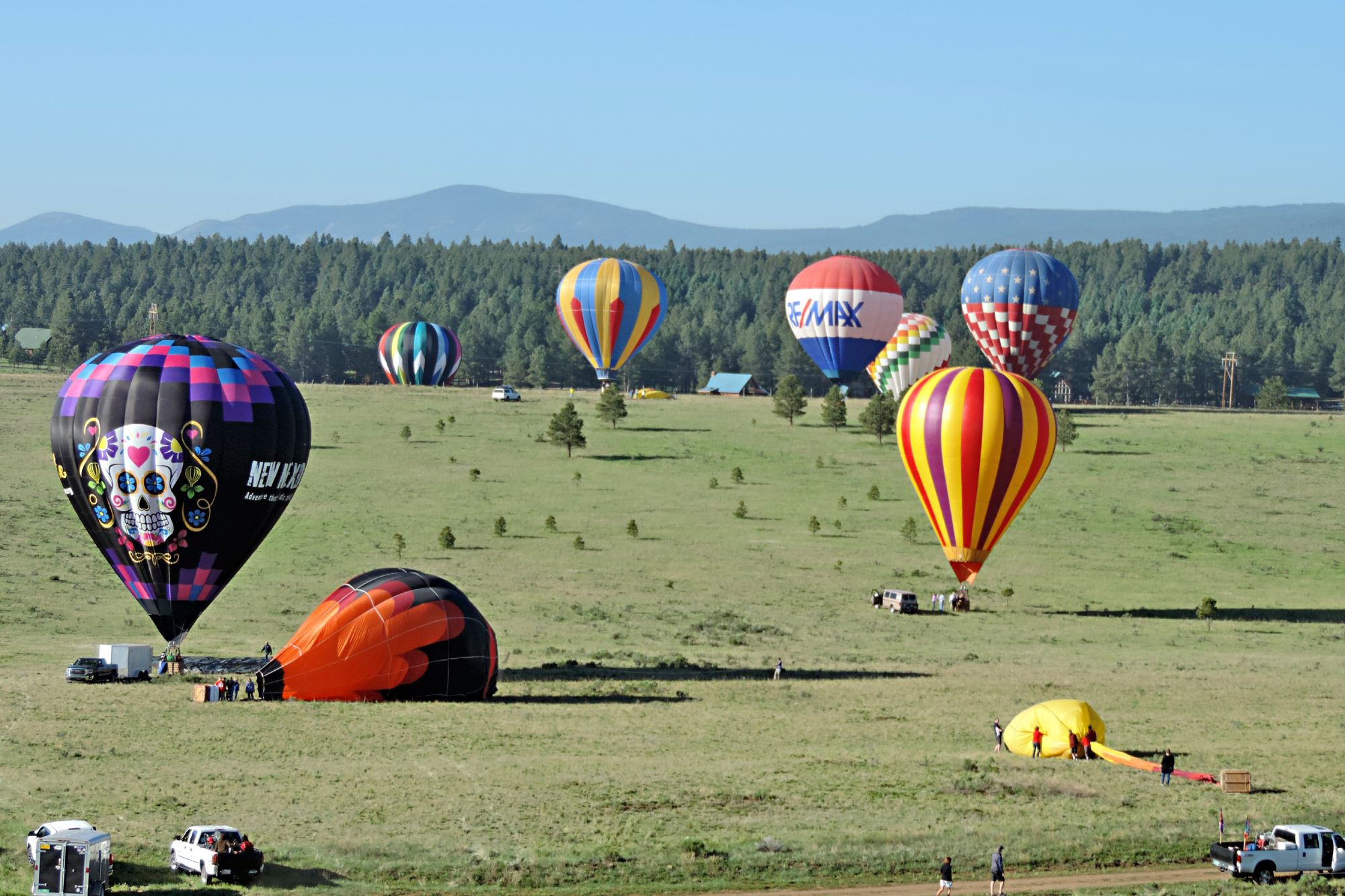Hot Air Balloons on the Ground in Angel Fire